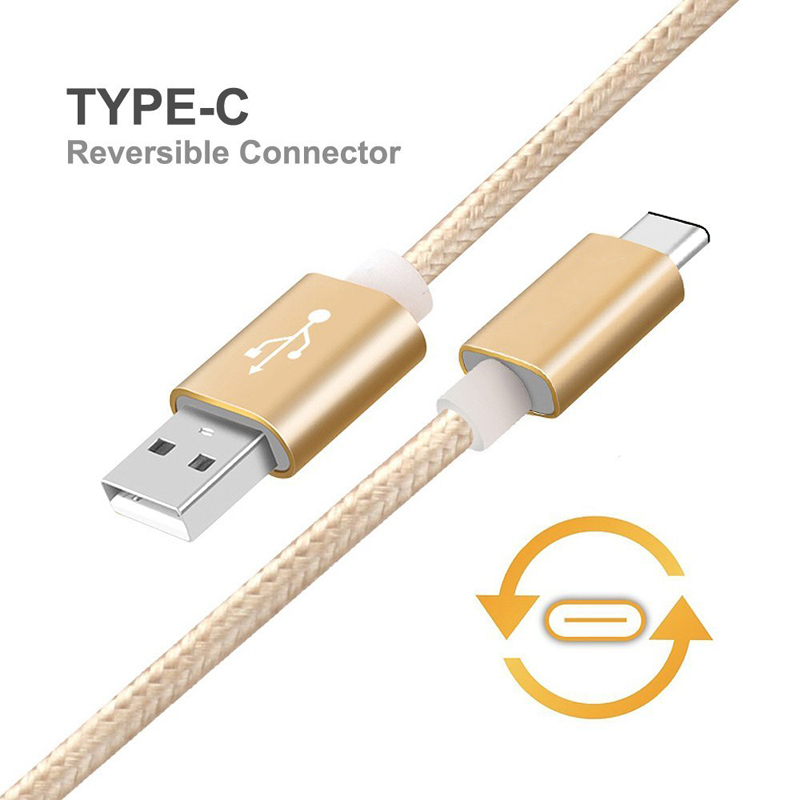 1M Aluminum Nylon USB Type C Fast Charger Cable for Letv LeEco Le Pro 3/Le 2 X520/Le Max2/Le 2/Le 2 Pro Data Sync Charging Cable