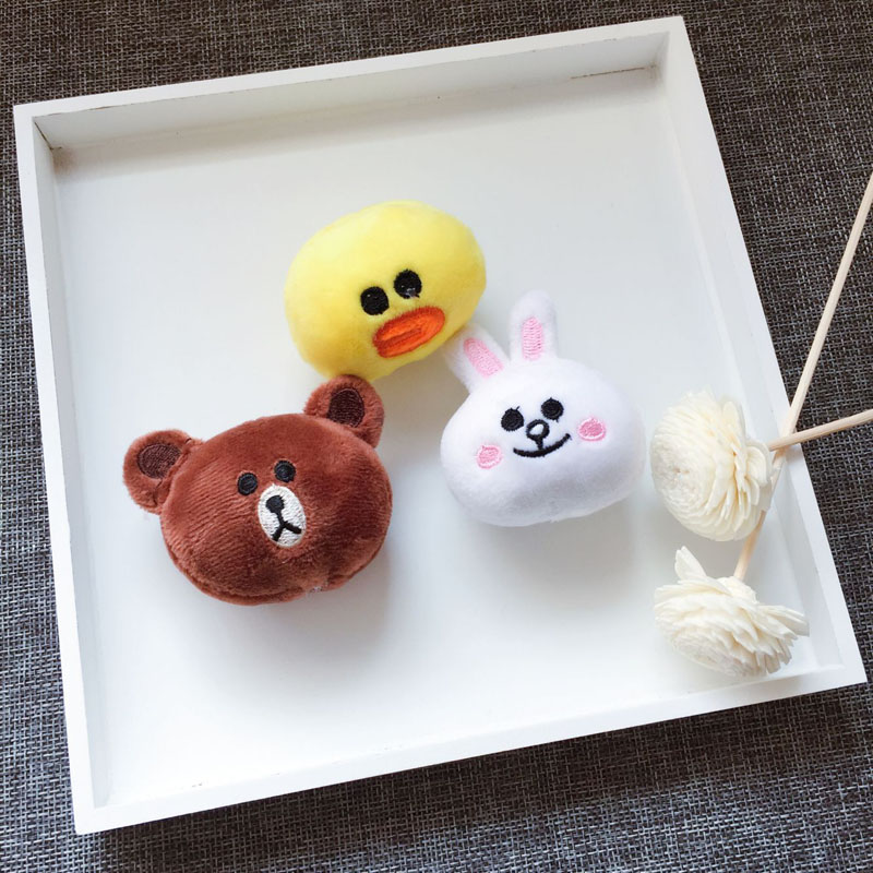 DIY Line Town Line friends Bear Brown & Bunny Cony & Sally Cartoon Plush Dolls Shoes Accessories Shoe Decorations туалетная вода christine lavoisier gross 100 мл