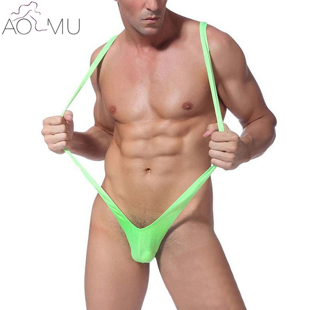 e5567177af85 AOMU 2017 Sexy Men Women Mankini Bikini Underwear One-Piece G-String for Men  Wholesale