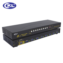CKL-81S 8 Port Auto VGA Switch with Audio 8 in 1 out PC Monitor Switcher with IR Remote RS232 Control 2048*1536 450MHz