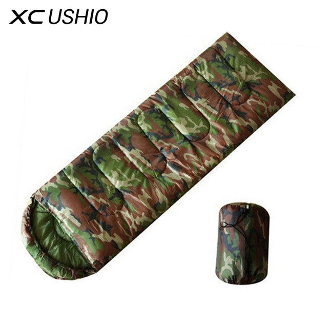 High Quality Camouflage Envelope Sleeping Bag Ultralight Summer Outdoor Camping Sleeping Bag for Adult
