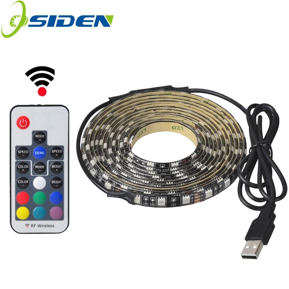 USB 5 В 5050 RGB полосы света 60led 1 м 2 м Мини ИК 24key RF 17key контроллер Черный PCB ...