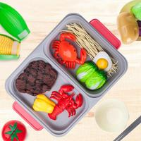 1 Set Kids Children BBQ Barbecue Cart Shop Toys Play Game Set Cooking Fun Simulation Dual use Pot Play House Kitchen Toy Set