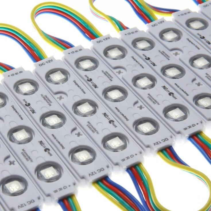 free shipping 5050 RGB 3leds injection led module RGB 12VDC 0 75W RGB injection led module