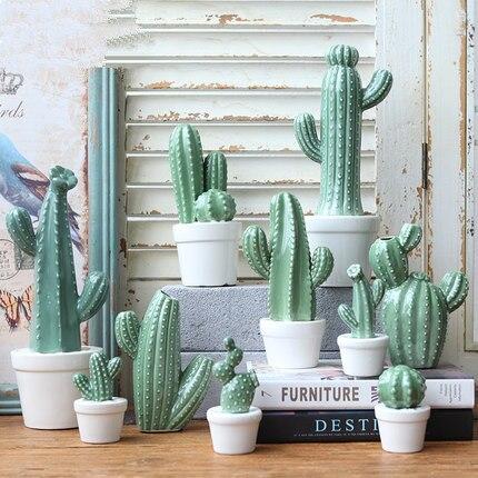 Cactus ornamenti simulazione pianta in vaso di ceramica for Ornamenti casa