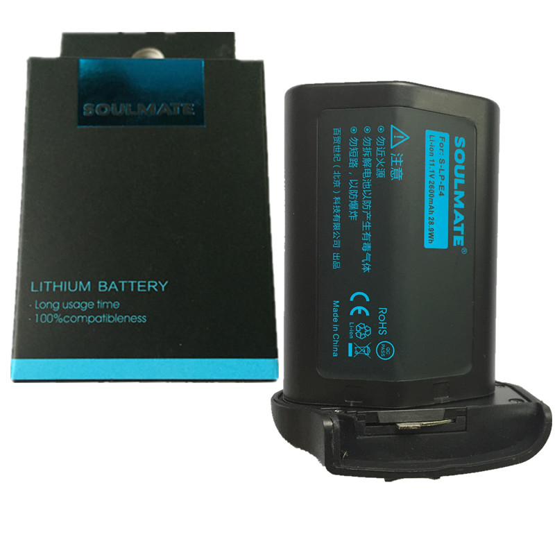 SOULMATE LP-E4 lithium batteries pack LPE4 LPE 4 Digital Camera Battery LPE4 FOR Canon EOS-1D Mark III 1Ds Mark III 1D mark 4 free customs taxes high quality skyy 48 volt li ion battery pack with charger and bms for 48v 15ah lithium battery pack