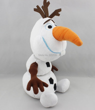 Kids 25CM Cute Snow Plush Doll Toy Movie frozenly Snowman Olaf Ice Toys For Toddler Children