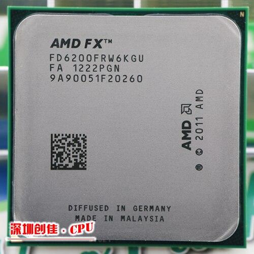 Livraison gratuite AMD FX 6200 AM3 + 3.8 GHz 8 MB CPU processeur FX série gratuite livraison scrattered pièces FX-6200 fx6200