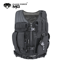 цена на MGFLASHFORCE Adjustable Tactical Vest Molle Swat Army Military Combat Assault Body Armor Hunting Fishing Shooting Airsoft Vest