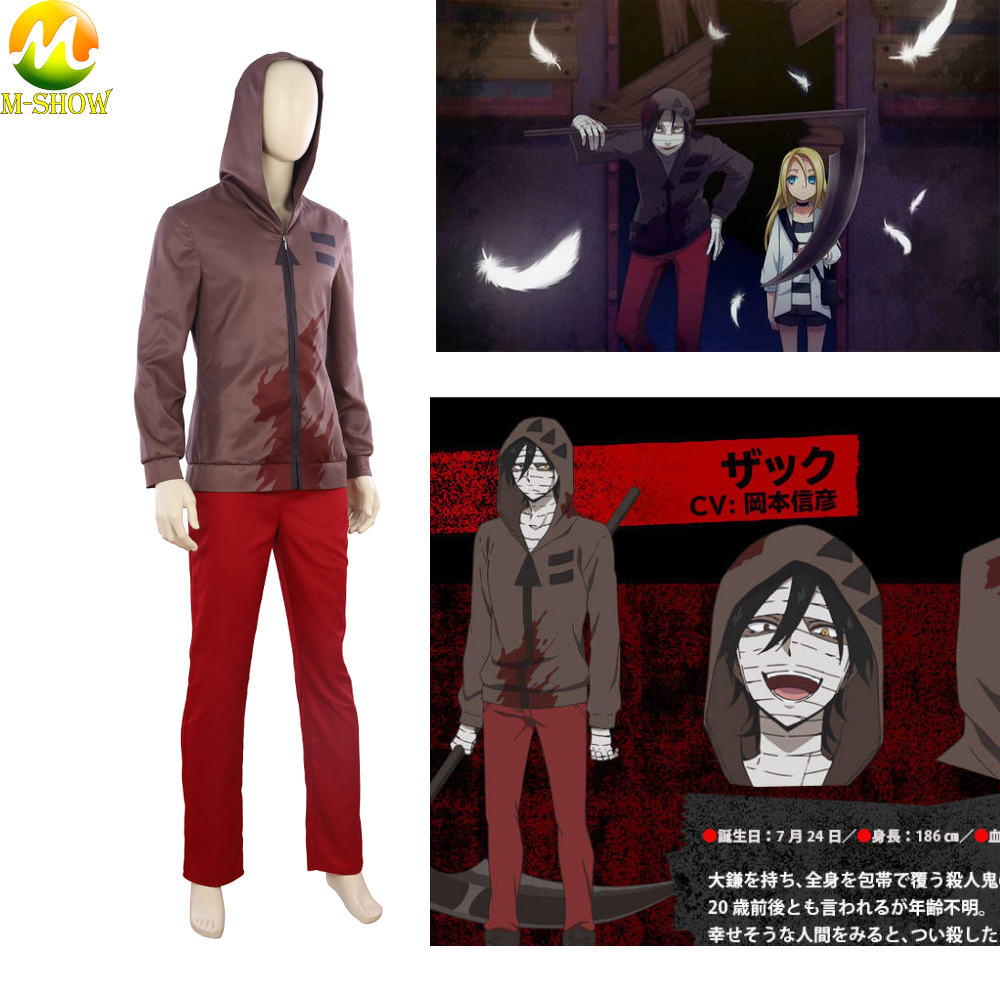 Anime Game Angels of Death Cosplay Costume Isaac Foster Cosplay Suit Men Fashion Clothes For Halloween Party