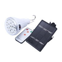 Outdoor Remote Control Solar Panel 20 LED Waterproof Emergency Night Lights Camp Tent Lamp DC Charging