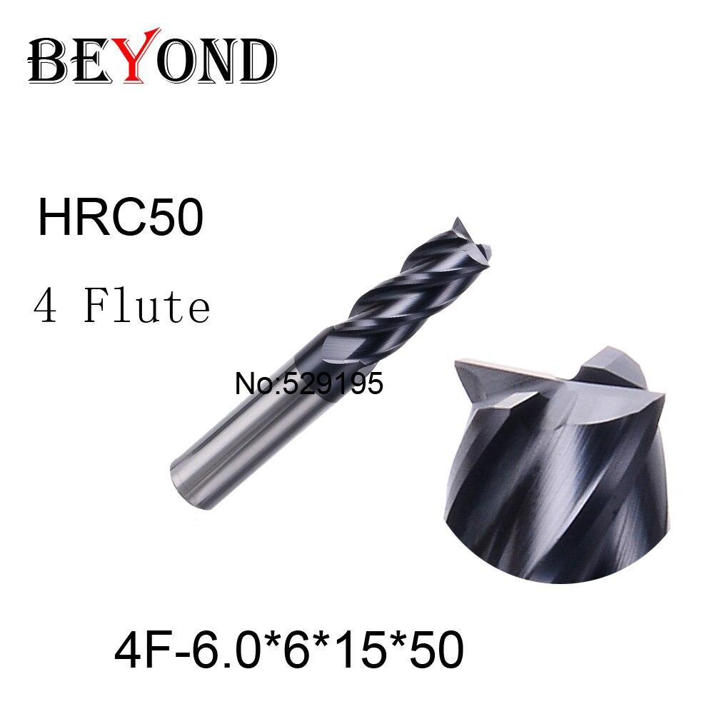 4f-6.0*6*15*50,hrc50,carbide End Mills,carbide Square Flatted End Mill,4 Flute,coating:nano,factory Outlet Length  цены