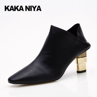 7cm 3 Inch Novelty Pumps Green Shoes For Women Gothic Winkle Picker 4 34 Small Size High Heels Pointed Toe Chunky Black Ladies