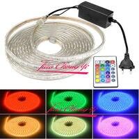 220V 5050 RGB Silicone Tube LED Strip Light Outdoor Decoration 24Key Controlle