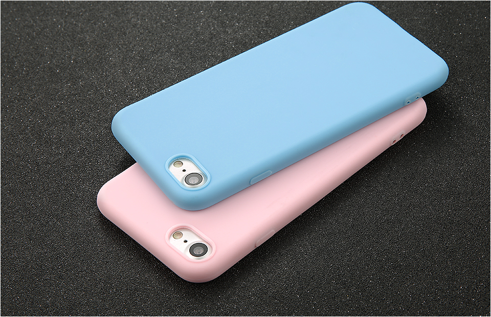 Candy Color Back Cover Case For iPhone 7