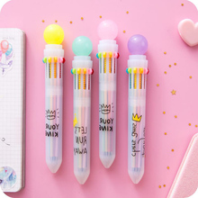 0.5mm Candy Multicolor Ballpoint Pen Cute 10 Colors Ink Ball Point Pens Marker Pen for Writing Office School Supplies Stationery 0 5mm candy multicolor ballpoint pen cute 10 colors ink ball point pens marker pen for writing office school supplies stationery