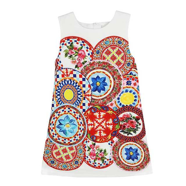 4b7cc11352c07 W.L.MONSOON Kids Dresses for Girls Clothes 2018 Brand Girl Summer Dress  Princess Costume Printed Robe Fille Children Dress 3 12Y-in Dresses from  Mother ...
