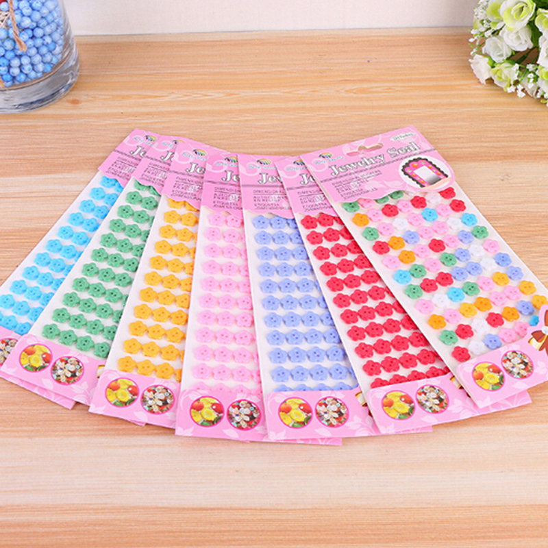 Creative DIY Handmade Painting Craft Kit Button Stickers Drawing Board Toys For Children Learning Educational Gift For Boy Girl