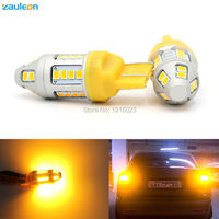 2pcs Turn Signal Light T20 7443 580 W21 5W 7440 WY21W 30SMD 2835 LED High Power