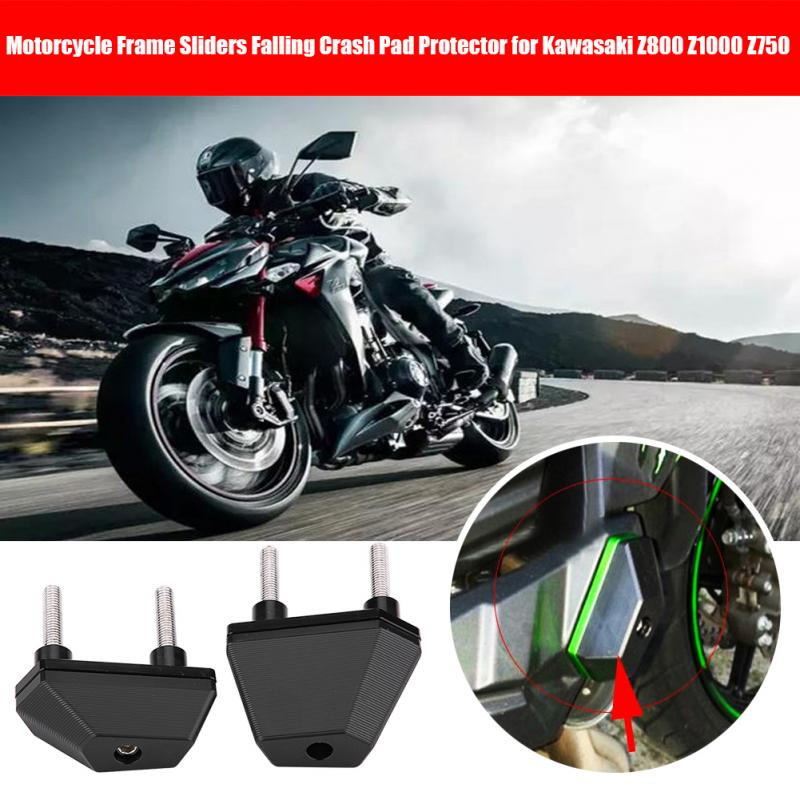 2pcs Motorcycle Frame Sliders Falling Crash Pad Protector for Kawasaki Z800 Z1000 Z750 Car-styling