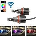 1 sets 36 Вт canbus wi-fi управления RGB H8 LED Angel Eyes LED маркер лампы halo кольцо для BMW E82 E90 E92 E93 E70 E71 E60 E61 E63 E64