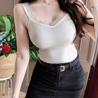 shintimes Vintage White Lace Tank Top Women Summer 2019 Knitted Cotton Sleeveless Black Vest Camisole Femme Camiseta Ladies Tops