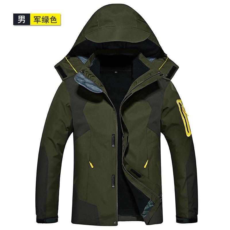 NEW Climbing windproof waterproof jackets 3 in 1 men sports outdoor coat Winter jacket man skiing