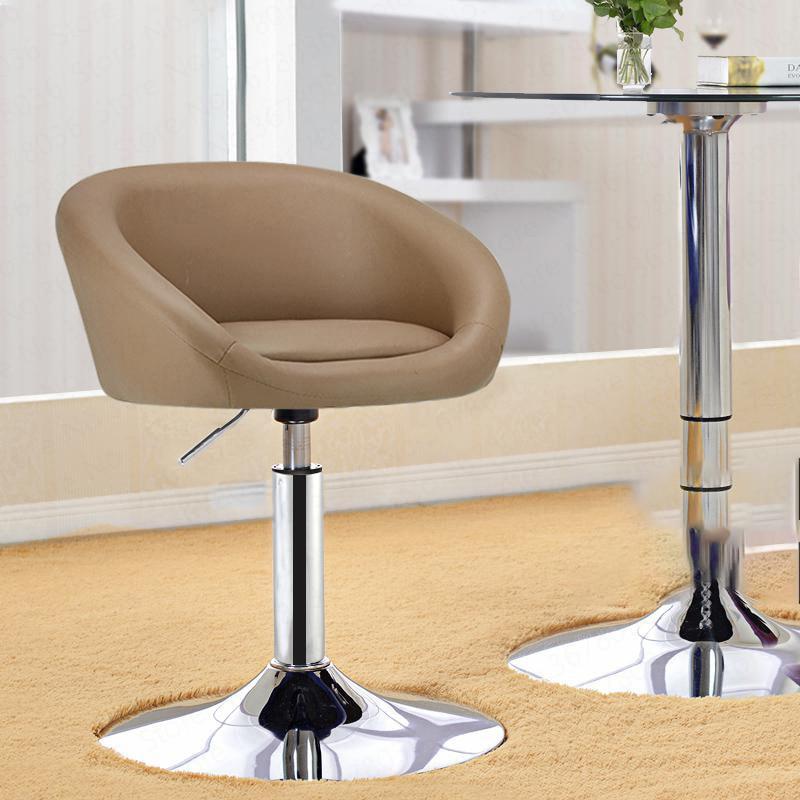 European Style High Bar Chair Fashion Lift Front Desk Cash High Foot Lift High Stool Counter Comptoir Metalic Leisure Stool