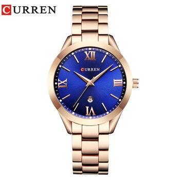CURREN Fashion Casual Ladies Wrist Watch Stainless Steel Dress Women Watches Calendar Analog Quartz Female Clock Ladies Gifts дамски часовници розово злато