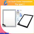 LL TRADER New Replacement Front Glass For iPad 2 Touch Screen Tablet Panel Digitizer with Adhesive+Homebutton Tools Free Ship