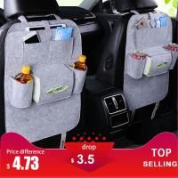 Car Storage Bag Universal Back Seat Organizer Box Felt Covers Backseat Holder Multi-Pockets Container   Stowing     Tidying   Styling