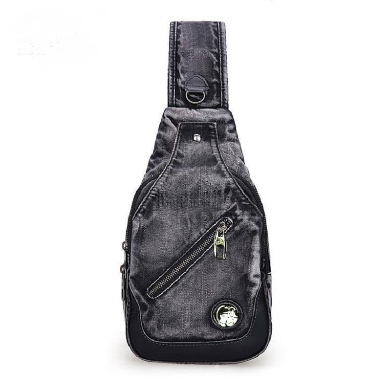 Vintage Fashion Casual Messager Daypacks One Shoulder Denim Small Backpacks Bags Jeans Men Women Cross Body