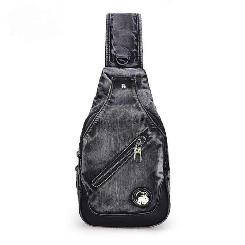 c0698a319d7c Винтаж модные Повседневное Messager Daypacks одно плечо джинсовой Малый  Рюкзаки Сумки Джинсы для женщин Для мужчин