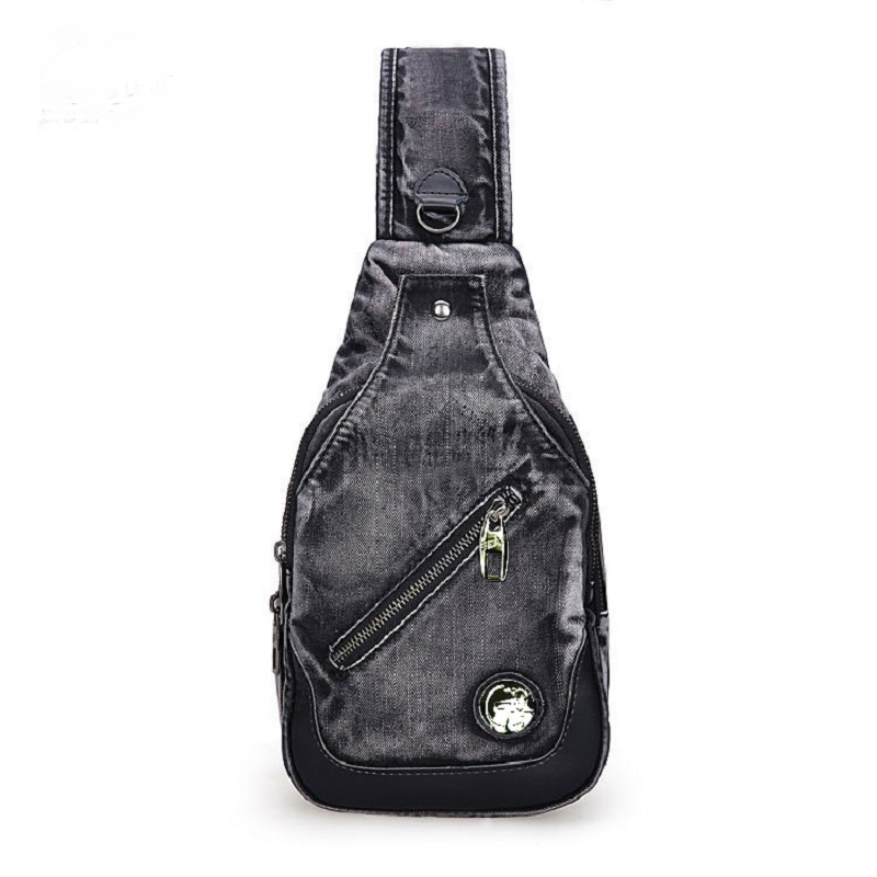 Vintage mode décontracté Messager Daypacks une épaule Denim petits sacs à dos sacs Jeans hommes femmes croix corps poitrine sac