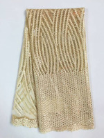 2015 Latest Design Beige African Cord Lace High Quality French Swiss Lace Fabric Wholesale African Guipure