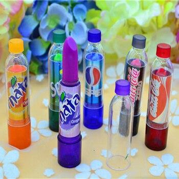 24pcs/lot beauty Change Color Cola Lipstick sweet cute Moisturizer Faint scent Lip Balm Lipstick Brand Makeup Lip Smacker 4