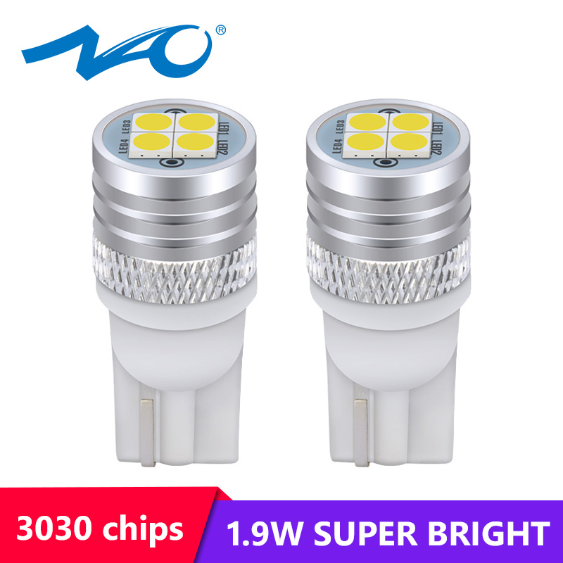 NAO Led-Lamp-1.9w Auto-Light 5W5 W5w 3030 Halogen T10 Led White Yellow 12V for Car-Styling