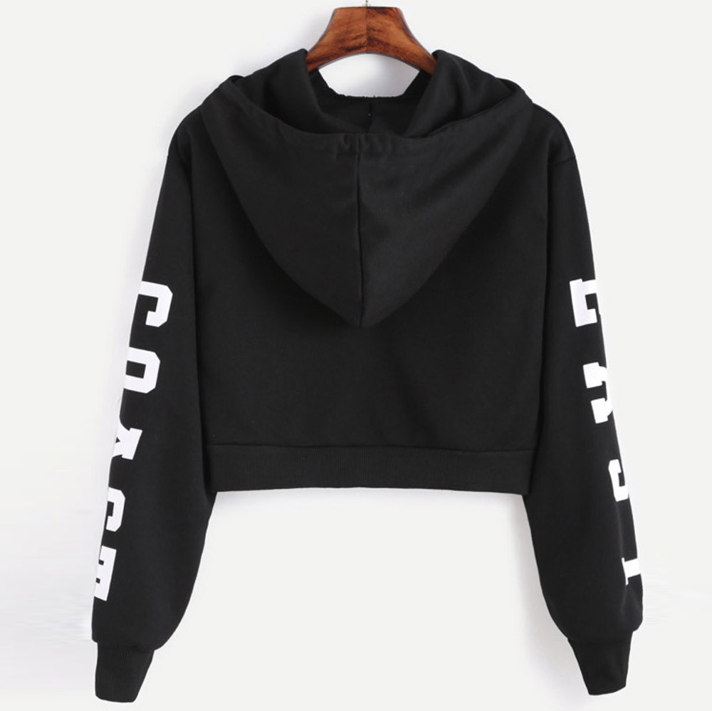 KANCOOLD Top Sweatshirts Women Letters Long Sleeve Hoodie Sweatshirt Pullover Tops Causal high quality sweatshirt women 18DEC6 4