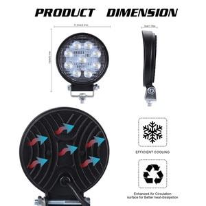 Image 5 - 2x LED מנורות עבור מכוניות LED עבודה אור תרמילים 4 אינץ 90W עגול ספוט Beam Offroad נהיגה אור בר luces Led Para אוטומטי