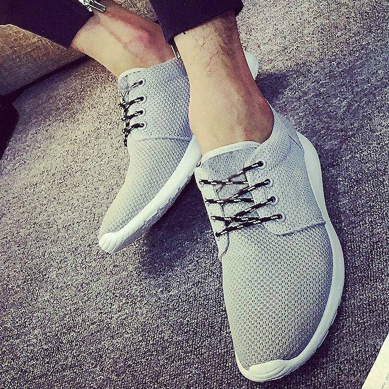 2018 új férfi alkalmi cipő nyári lélegző fekete lakások cipő - Férfi cipők