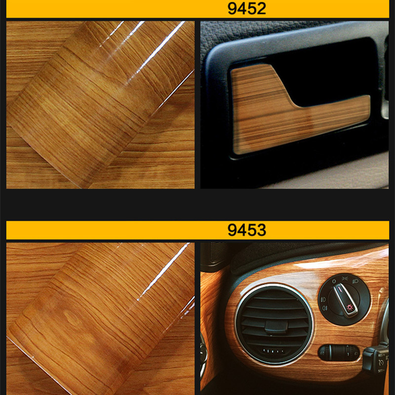 30cm*100cm Glossy Wood Grain Textured Car Sticker Waterproof Vinyl Film DIY Automobiles Interior Decoration Furniture Decal 50x200cm color change wood grain vinyl film furniture wood grain textured decal car internal self adhesive sticker car styling