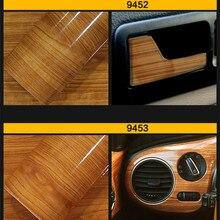 цена на 30cm*100cm Glossy Wood Grain Textured Car Sticker Waterproof Vinyl Film DIY Automobiles Interior Decoration Furniture Decal