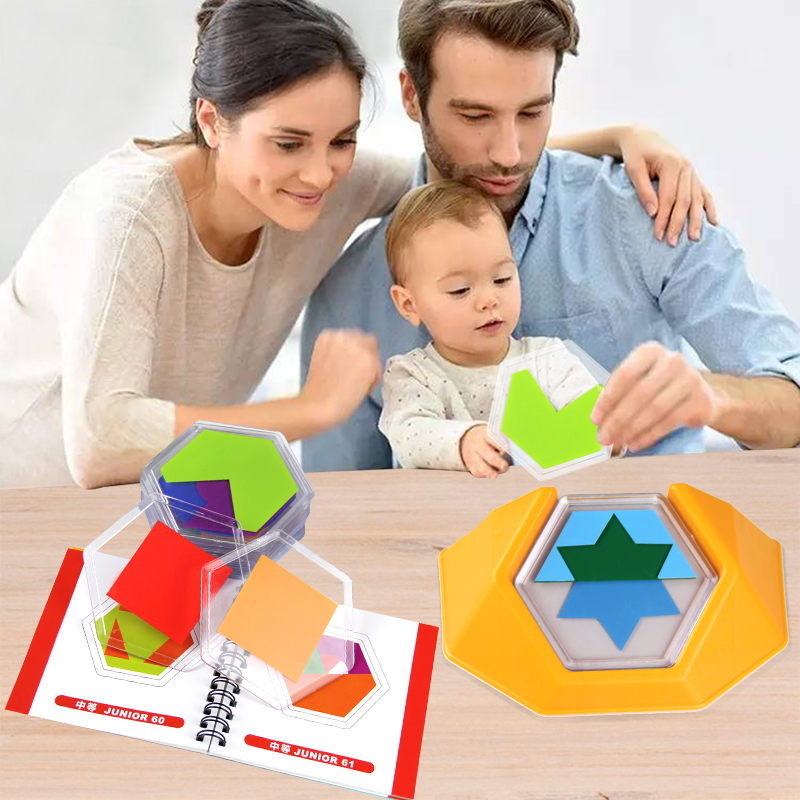 100 Challenge Color Code Puzzle Games Logic game Board game Tangram Puzzle Develop Spatial Reasoning Skills Toys for Children