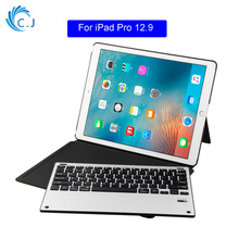 2 in 1 Removable Wireless Bluetooth Keyboard PU Leather Stand Case Cover For Apple iPad Pro 12.9 inch Keyboard Stand Case