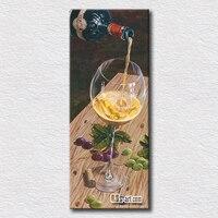 הרגע היפה של טעימות יין בד ציור של מזיגת יין אמנות לקישוט הבית המודרני / 40 ס