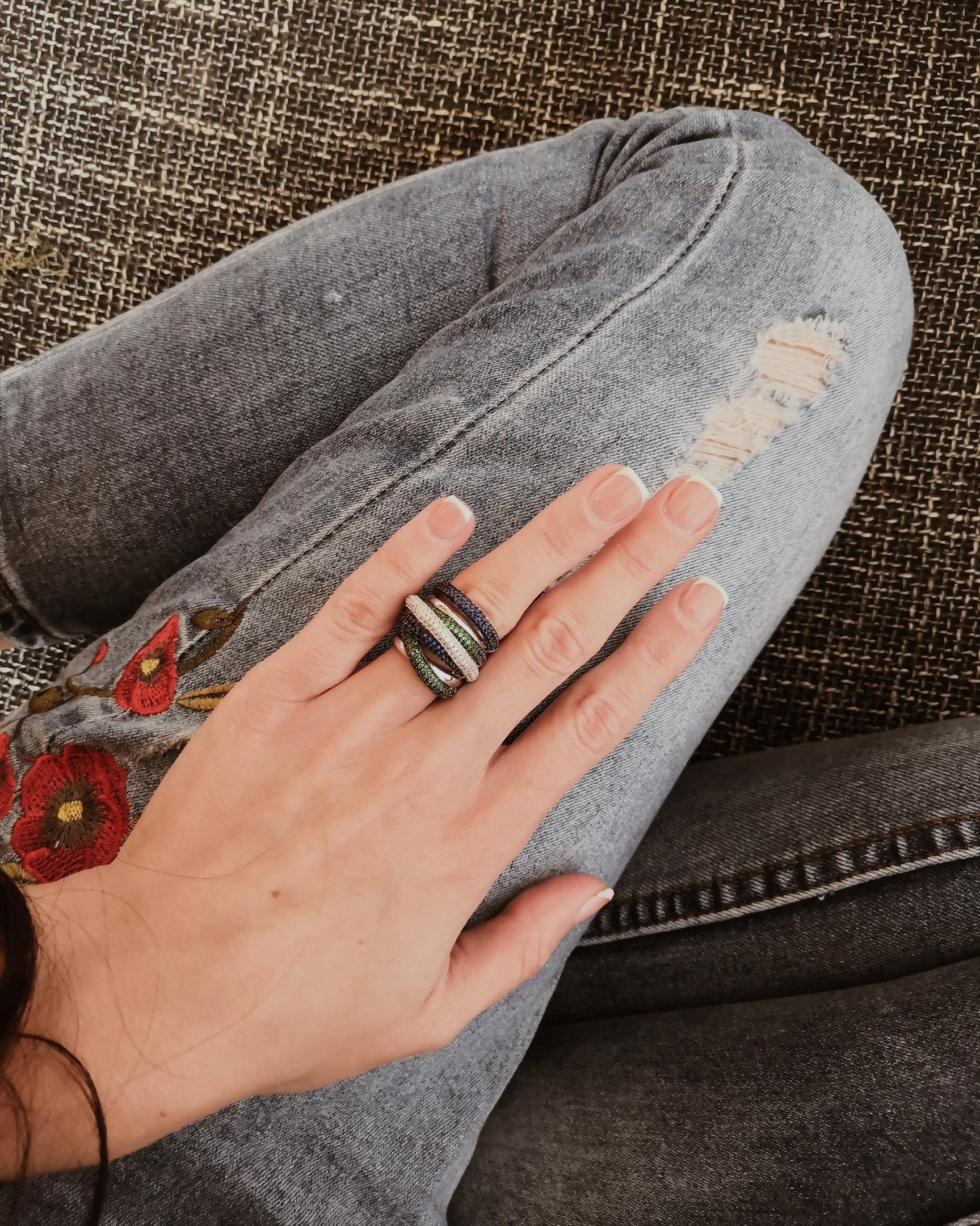 GODKI Monaco Design Luxury Statement Stackable Ring For Women Wedding Cubic Zircon Engagement Dubai Punk Bridal Top Finger Rings 5