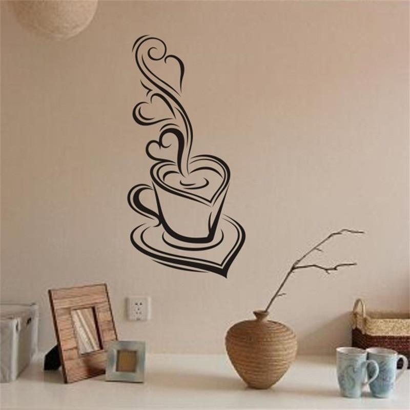 coffee removable kids wall stickers decal art adesivos de parede vinyl mural adornos para casa home