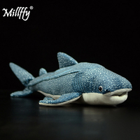 Dropshipping millffy realistic blue whale shark plush toy soft toy doll pillow stuffed animals lifelike shark peluche for kids