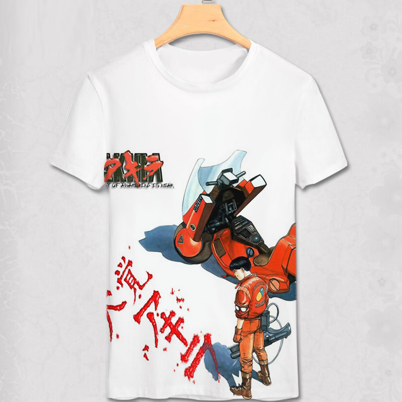 Akira Shotaro Kaneda The Capsule Motorcycle Japanese Anime Film T-shirt Tee Mens Summer Style Adults T Shirt Alien Tshirt