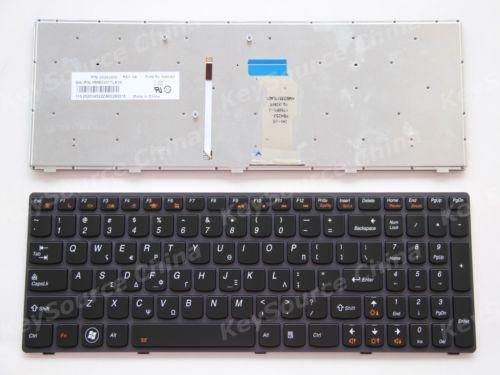 New notebook Laptop keyboard for Lenovo IdeaPad Y580 Keyboard German Deutsch DE GR QWERTZ Frame laptop keyboard for acer silver without frame german gr v 121646ck2 gr aezqsg00110
